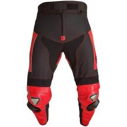 Tuta Biesse moto divisibile pelle e tessuto - Antras rosso nero
